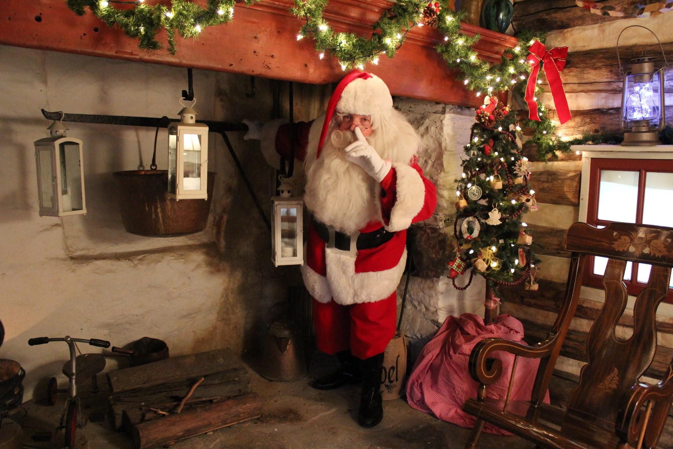 Log House Santa